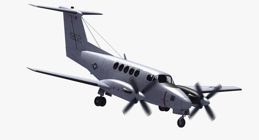 Beechcraft C12休伦 royalty-free 3d model - Preview no. 16