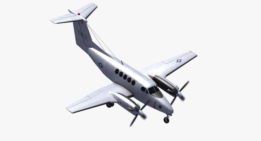 Beechcraft C12休伦 royalty-free 3d model - Preview no. 25