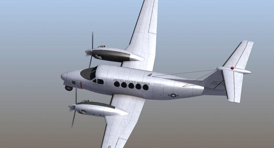 Beechcraft C12休伦 royalty-free 3d model - Preview no. 9