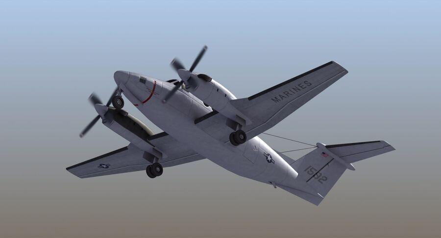 Beechcraft C12休伦 royalty-free 3d model - Preview no. 14