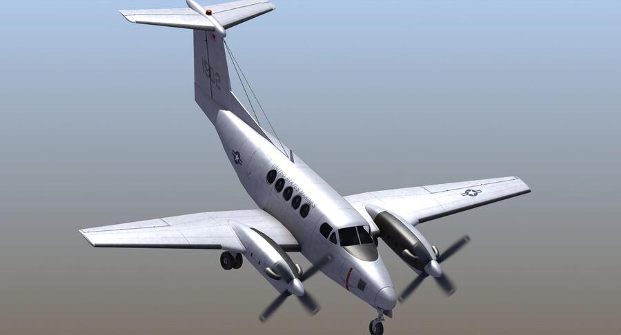 Beechcraft C12休伦 royalty-free 3d model - Preview no. 8