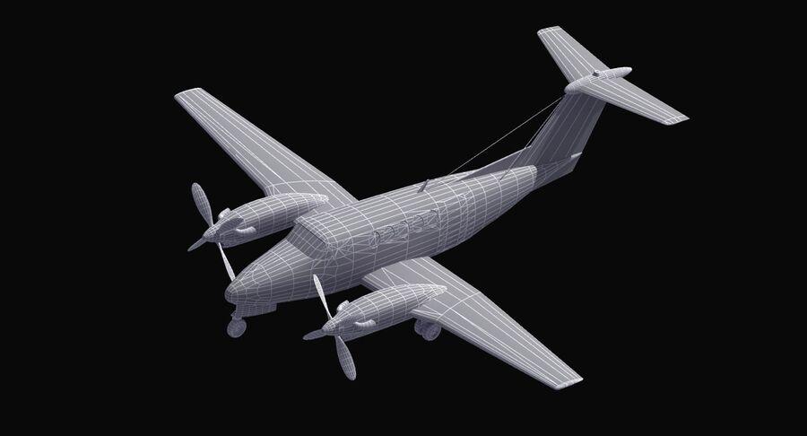 Beechcraft C12休伦 royalty-free 3d model - Preview no. 41