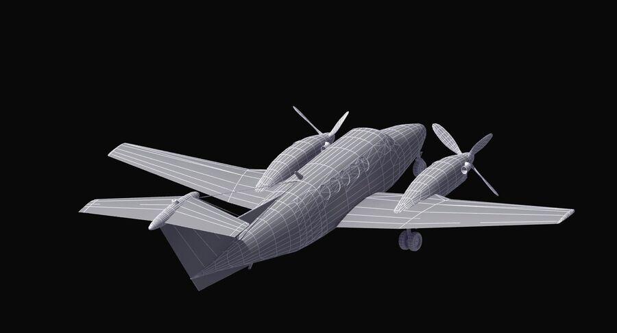Beechcraft C12休伦 royalty-free 3d model - Preview no. 35