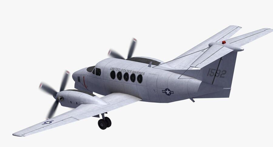 Beechcraft C12休伦 royalty-free 3d model - Preview no. 27