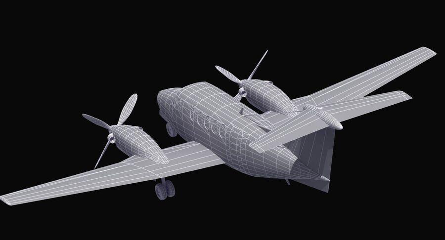 Beechcraft C12休伦 royalty-free 3d model - Preview no. 31