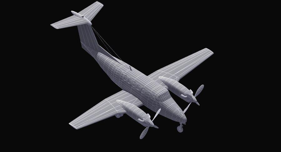 Beechcraft C12休伦 royalty-free 3d model - Preview no. 38