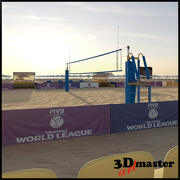 Beach-Volleyball-Arena 3d model