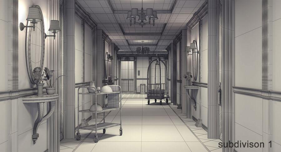 Hotel Corridor royalty-free 3d model - Preview no. 13