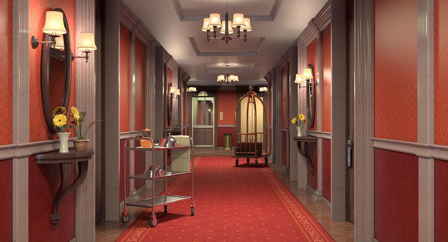 Hotel Corridor royalty-free 3d model - Preview no. 3