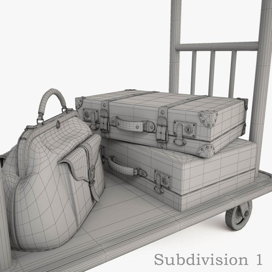 Hotel Corridor royalty-free 3d model - Preview no. 21