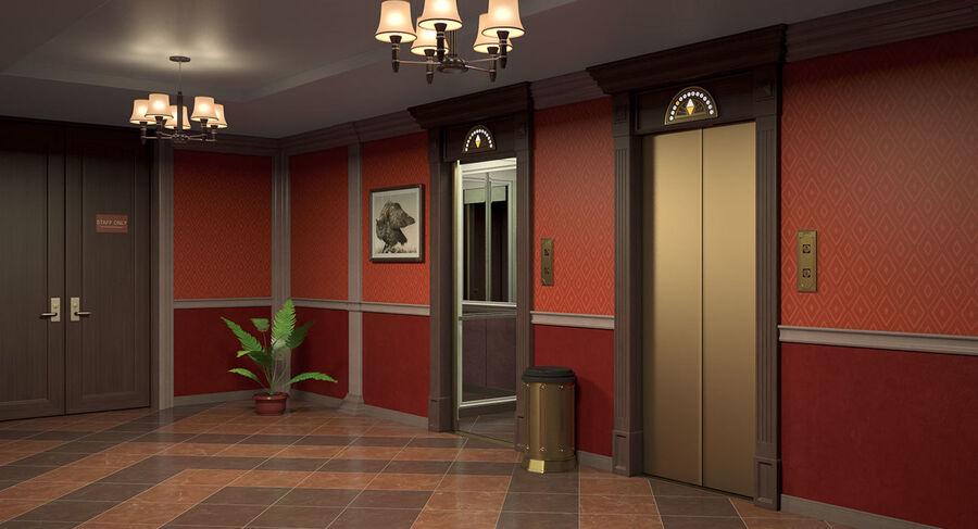 Hotel Corridor royalty-free 3d model - Preview no. 7