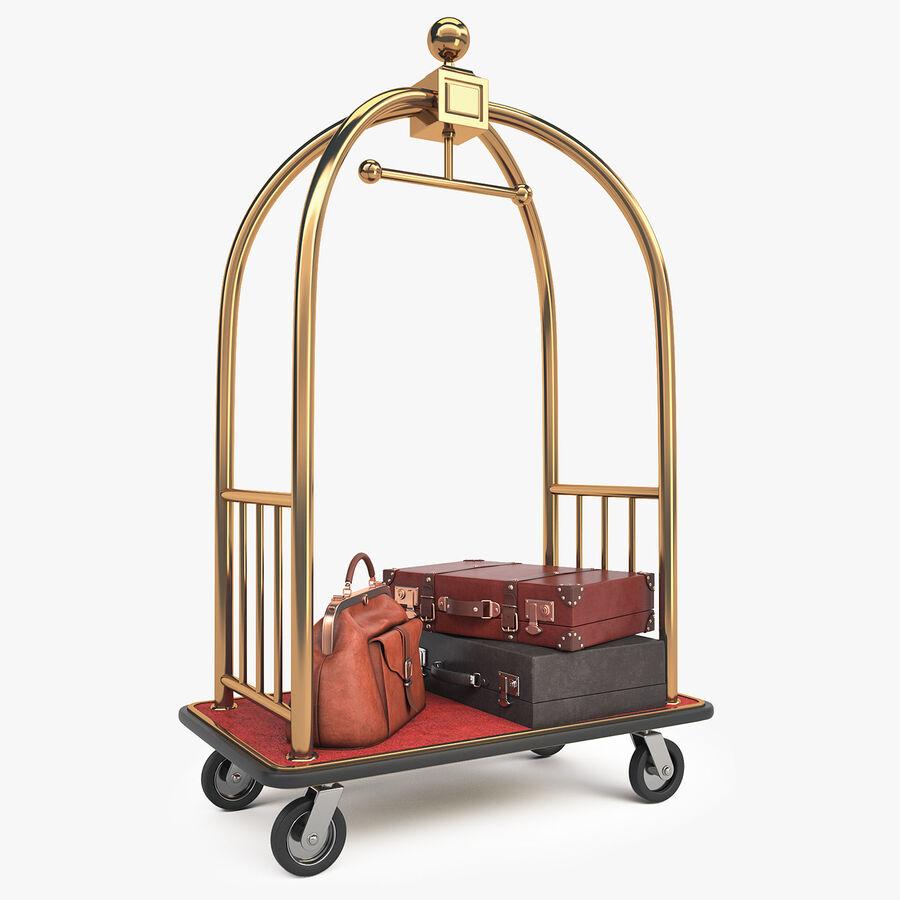 Hotel Corridor royalty-free 3d model - Preview no. 16
