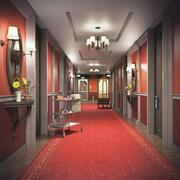 호텔 복도 3d model