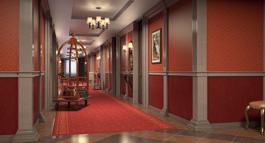 Hotel Corridor royalty-free 3d model - Preview no. 6