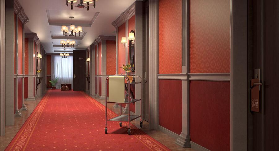 Hotel Corridor royalty-free 3d model - Preview no. 10