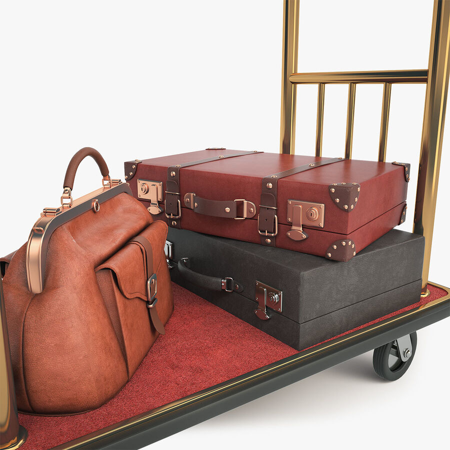 Hotel Corridor royalty-free 3d model - Preview no. 17