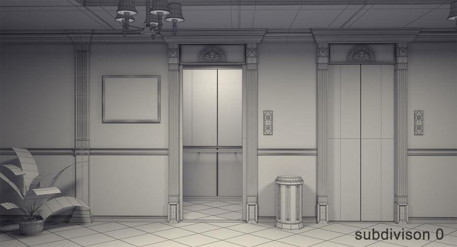 Hotel Corridor royalty-free 3d model - Preview no. 14