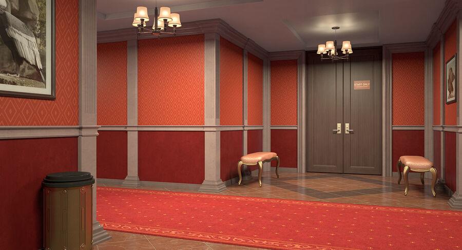 Hotel Corridor royalty-free 3d model - Preview no. 9