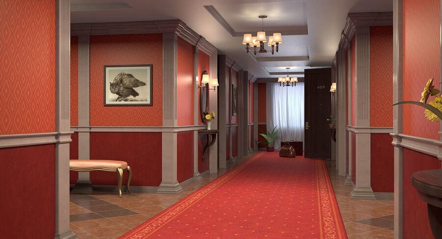 Hotel Corridor royalty-free 3d model - Preview no. 8