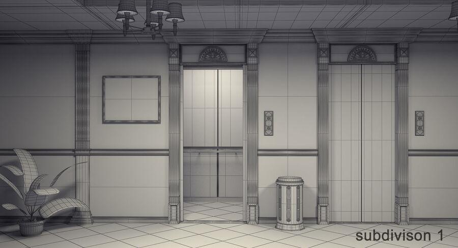 Hotel Corridor royalty-free 3d model - Preview no. 15