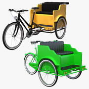 Pedicab 컬렉션 3d model