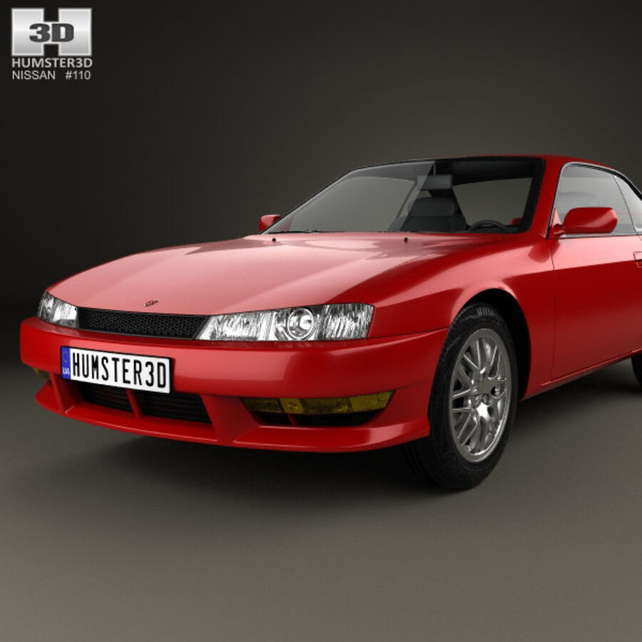 Nissan Silvia 1996 royalty-free 3d model - Preview no. 6