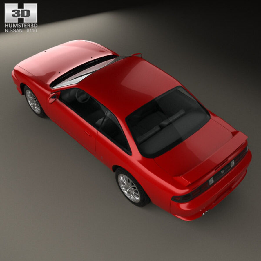 Nissan Silvia 1996 royalty-free 3d model - Preview no. 9