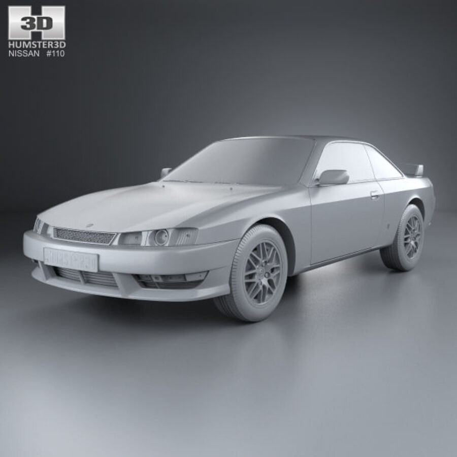 Nissan Silvia 1996 royalty-free 3d model - Preview no. 11