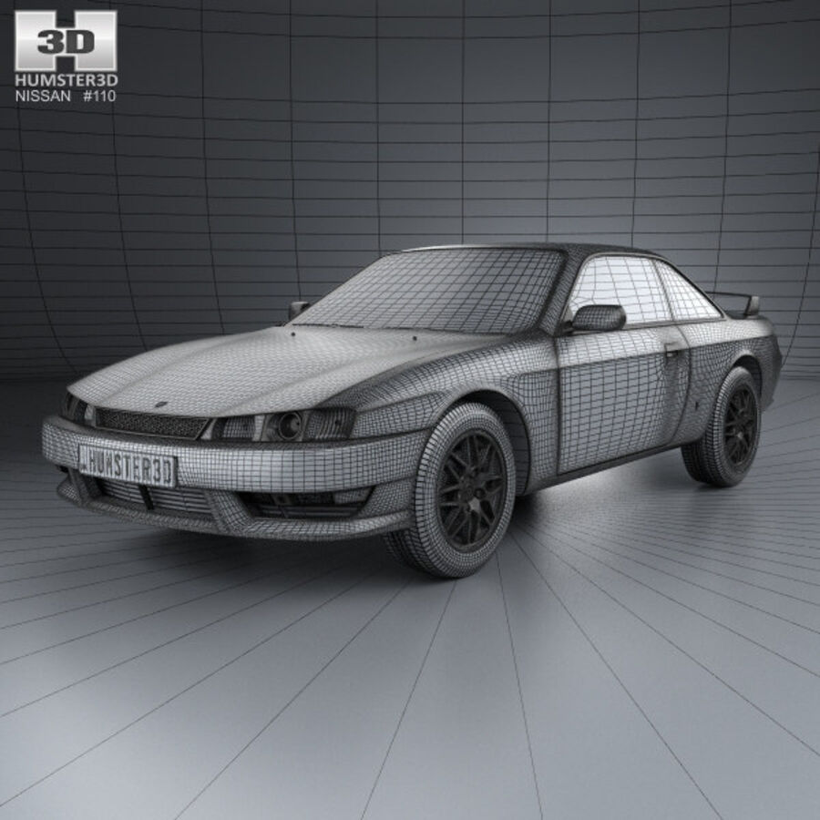 Nissan Silvia 1996 royalty-free 3d model - Preview no. 3