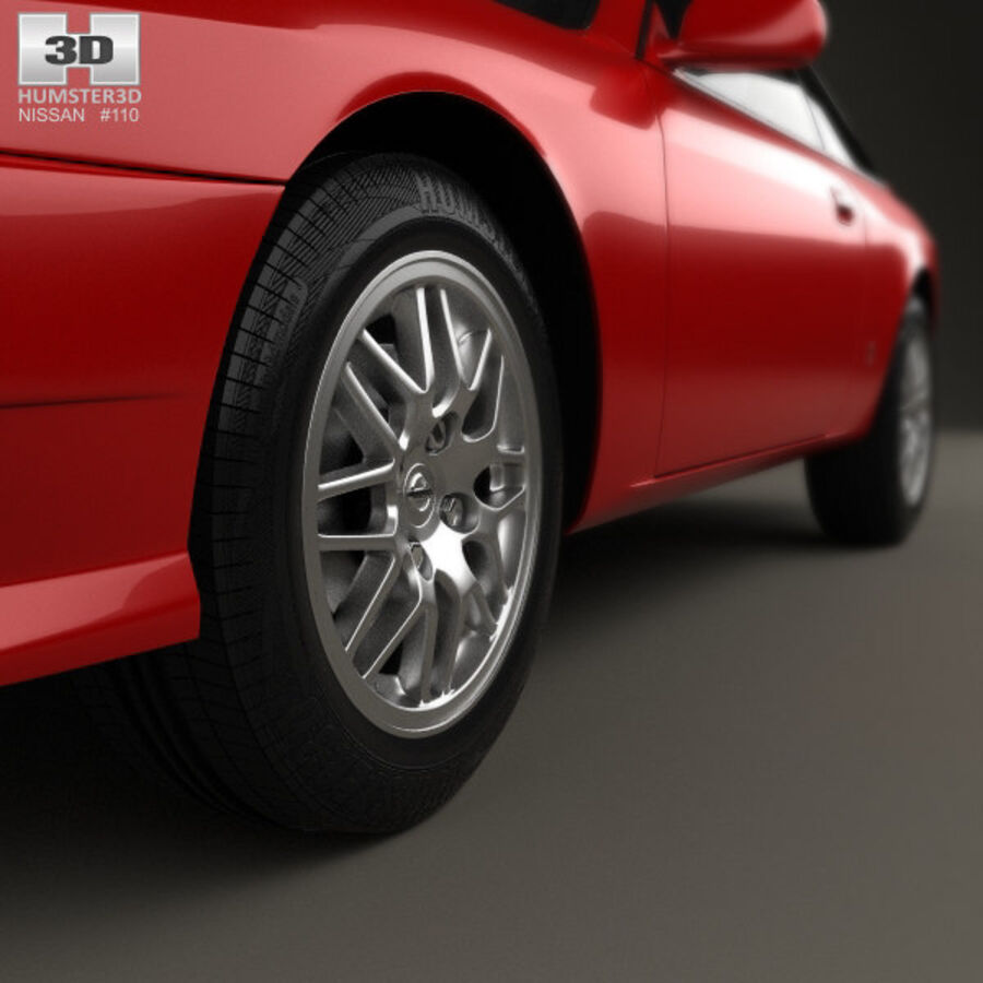 Nissan Silvia 1996 royalty-free 3d model - Preview no. 8