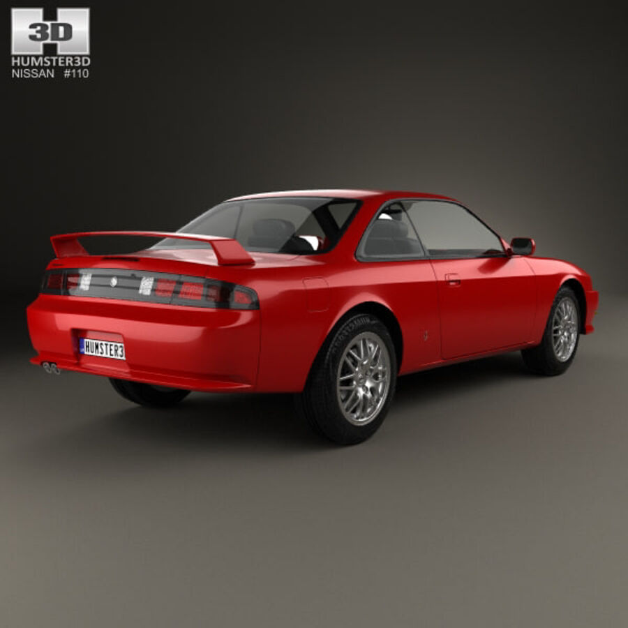 Nissan Silvia 1996 royalty-free 3d model - Preview no. 2