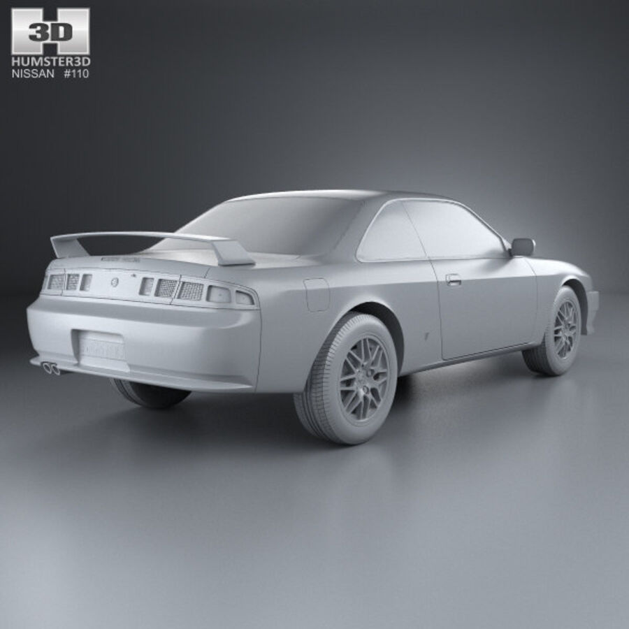 Nissan Silvia 1996 royalty-free 3d model - Preview no. 12