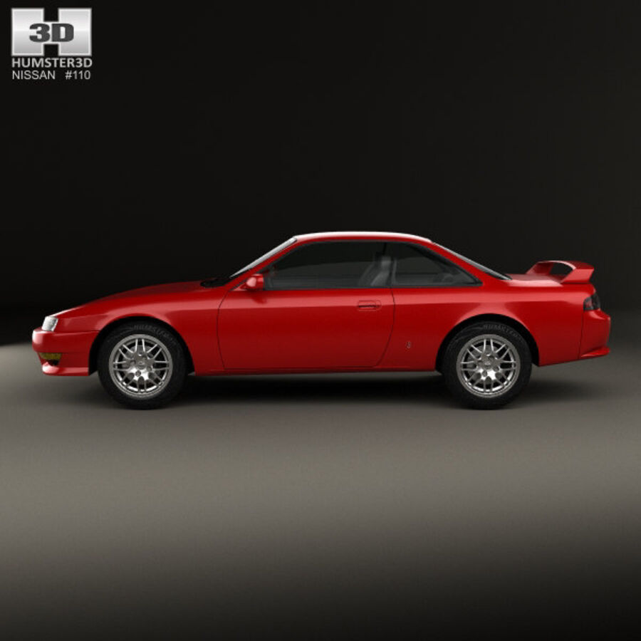 Nissan Silvia 1996 royalty-free 3d model - Preview no. 5
