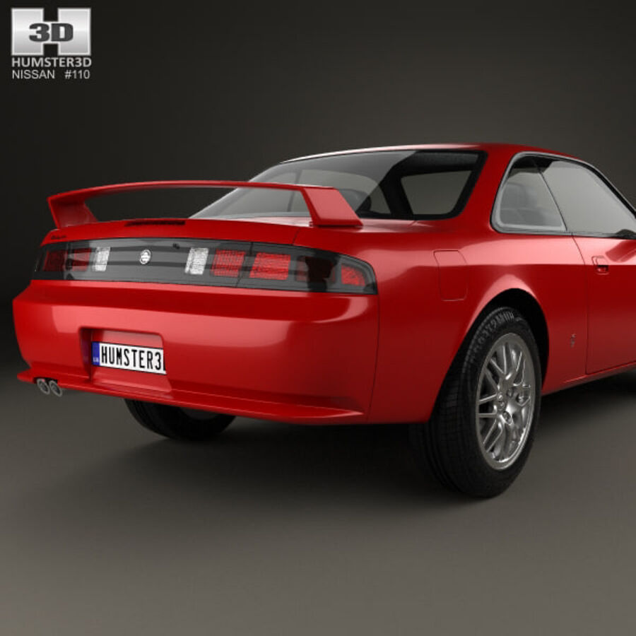 Nissan Silvia 1996 royalty-free 3d model - Preview no. 7
