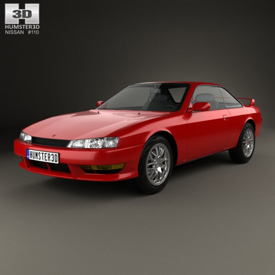 Nissan Silvia 1996 royalty-free 3d model - Preview no. 1