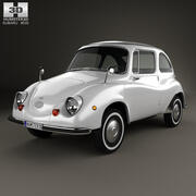 Subaru 360 1958 года 3d model