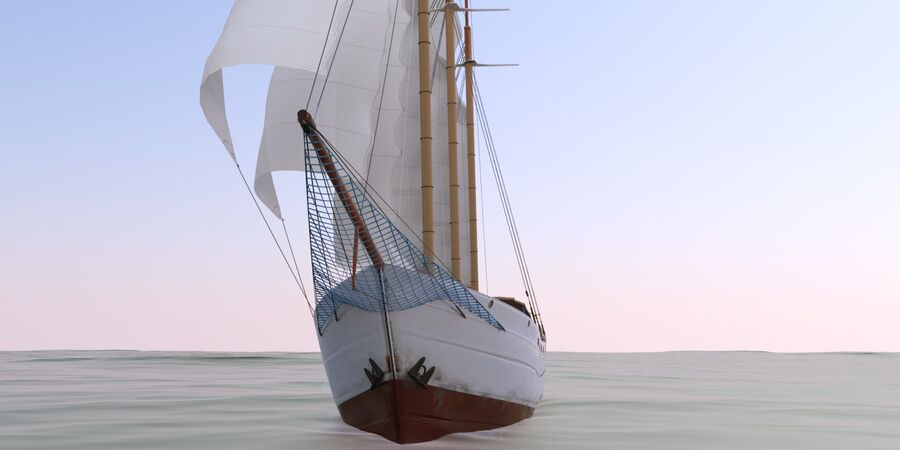 帆船 royalty-free 3d model - Preview no. 6