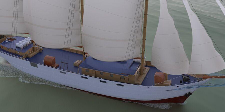 帆船 royalty-free 3d model - Preview no. 4