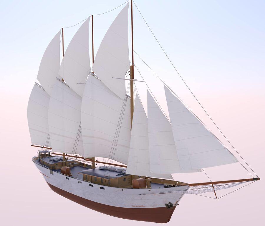 帆船 royalty-free 3d model - Preview no. 1