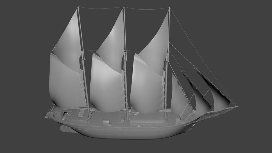 帆船 royalty-free 3d model - Preview no. 3
