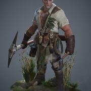 中世の戦士 3d model
