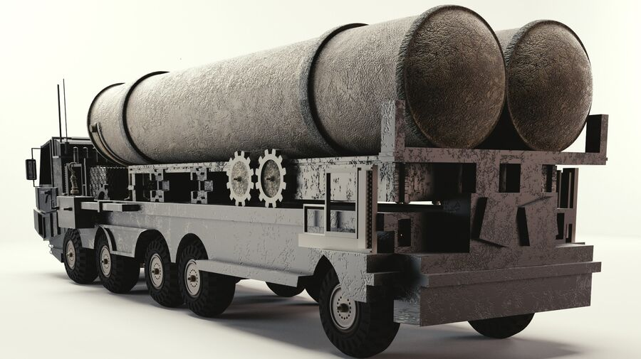 Missile Launcher royalty-free 3d model - Preview no. 3