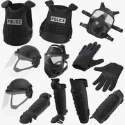 Полицейское снаряжение 3d model