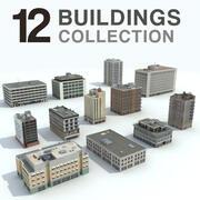 Buildings City - 12 Models Collection 3d model