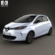 Renault ZOE with HQ interior 2013 3d model