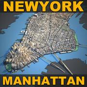 뉴욕시 2 3d model