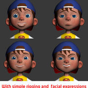 Menino cartoon 3d model