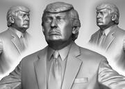 Trump Hi Poly 3d model