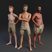 Rigged Human Male 3d model