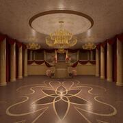 优雅的宴会厅 3d model